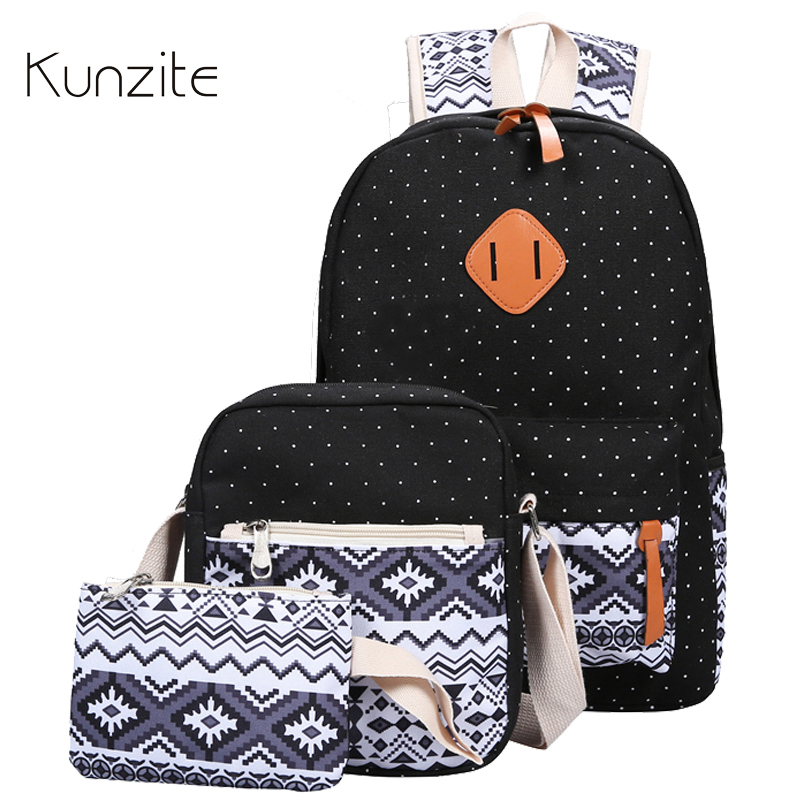 Kunzite Stylish Canvas Printing Backpack Women School Bags for Teenage Girls Cute Bookbags Laptop Backpacks Female Bagpack Sac vintage cute owl backpack women cartoon school bags for teenage girls canvas women backpack brands design travel bag mochila sac