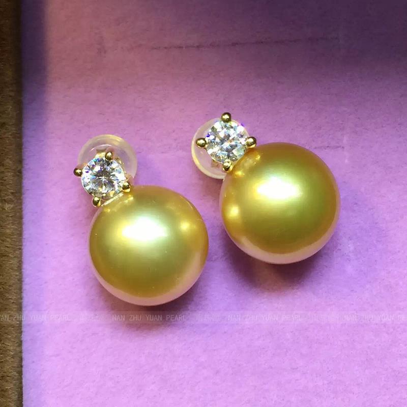 wedding Women Gift word 925 Sterling silver real The princess imported Nanyang Kim Earrings seawater pearl ear hook ear in Drop Earrings from Jewelry Accessories