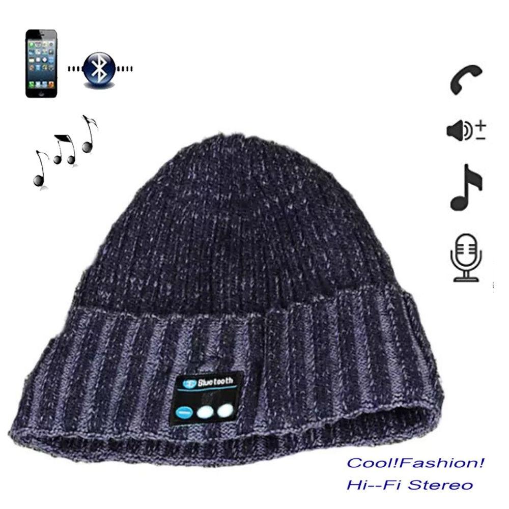 2017 Thicken Soft Warm Plusvelvet Bluetooth Cap Wireless Hat Headphone Headset With screen Speaker Best Christmas Gift Earphone edt bluetooth music beanie hat soft warm cap with stereo headphone headset speaker