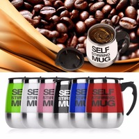 Coffee Mug 450ml Stainless Lazy Automatic Self Stirring Mug Auto Mixing Drink Tea Coffee Cup For