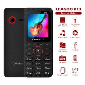 Image 2 - LEAGOO B13 Russian English Keypad Feature Mobile Phone Senior Kids Mini Phone 2G GSM Push Button Key Cellphone