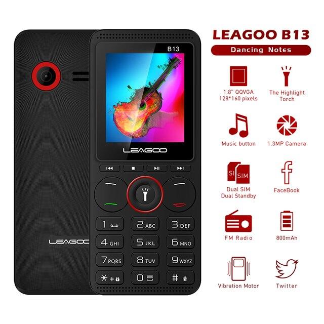 LEAGOO B13 rosyjska angielska klawiatura telefon komórkowy starszy dzieci mini telefon rosyjska klawiatura 2G GSM przycisk telefonu komórkowego