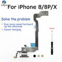 Original New!!! Charging Port Dock Flex For iPhone 8 8 Plus X White Black Light Grey Gold + Free Gift