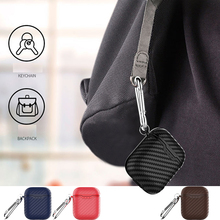 For airpods case cover Carbon Fibre texture design for headphones Box  Wireless Charging