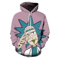 Rick And Morty 3D Hoodies Men Women Sweatshirts Brand Hoodies Male Pullover Tracksuits Funny Cartoon Streetwear