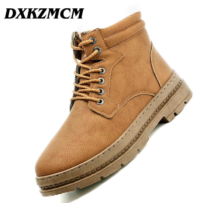 DXKZMCM Super Warm Men Winter Boots for Men Warm Waterproof Boots Shoes 2018 New Men's Ankle Snow Boot high motorcycle handlebar lock scooter atv brake clutch security safety theft protection locks for honda kawasaki yamaha piaggio