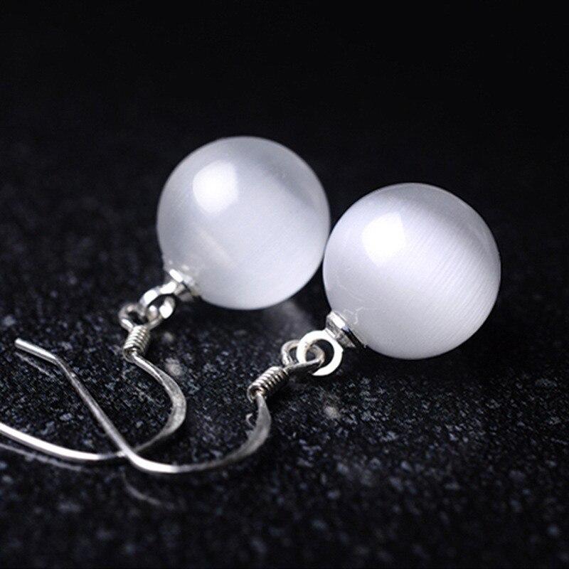 Round Bola Fashion Vintage Crystal Heart Rhinestone Dangle Earrings Summer Style Jewelry Sweet Earrings for Women Girls