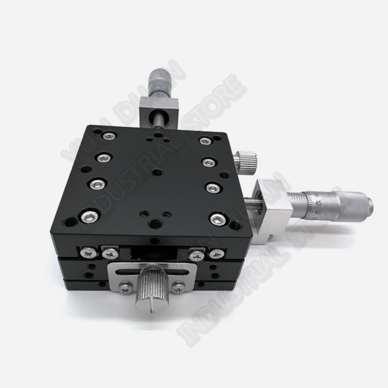 2.8 70*70mm XY Axis  Trimming Station Manual Displacement Platform Cross Roller Guide Way Linear Stage Sliding Table LY70-C2.8 70*70mm XY Axis  Trimming Station Manual Displacement Platform Cross Roller Guide Way Linear Stage Sliding Table LY70-C