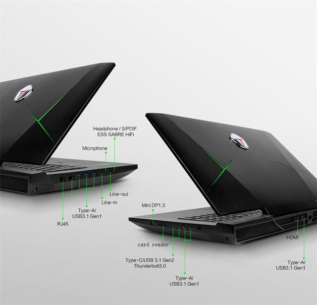 ThundeRobot G17X Giming Laptops I7-7700K 32G 512G SSD+1T GTX1080 8G GDDR5X