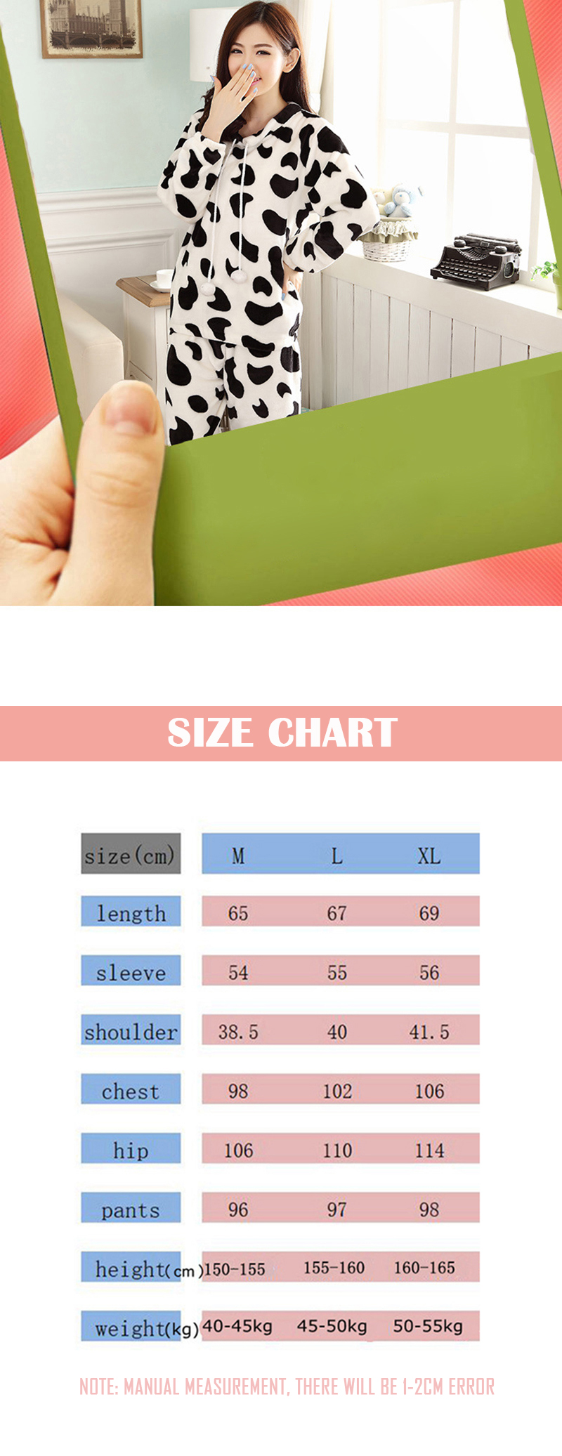 JULY'S SONG Cartoon Flannel Women Pajama Sets Autumn and Winter Cute Female Homewear Thick Warm Women Sleepwear 12