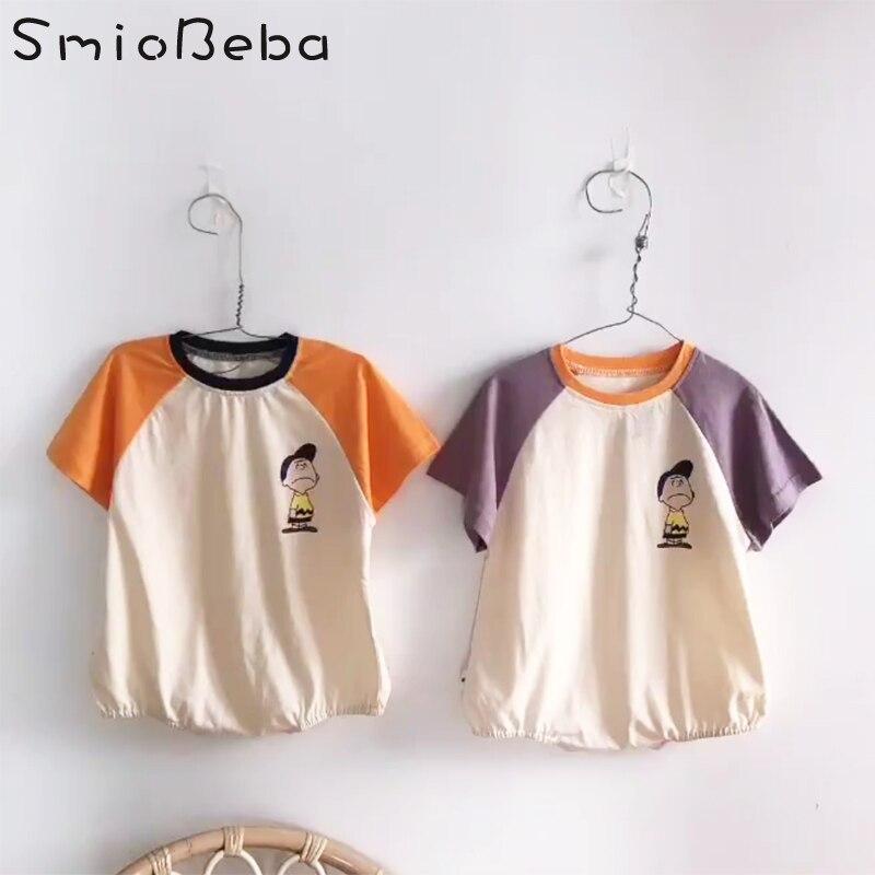 Retro Wave Sun Vintage Suit 6-24 Months Short Sleeve Baby Clothes Climbing Clothes