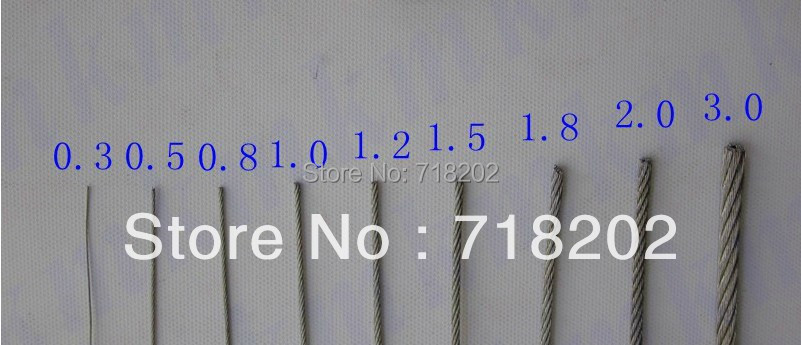 100m per lot stainless steel 304 wire rope 17 03 mm diameterno 100m per lot stainless steel 304 wire rope 17 03 mm diameterno nylonpvc coated in colanders strainers from home garden on aliexpress alibaba greentooth Image collections
