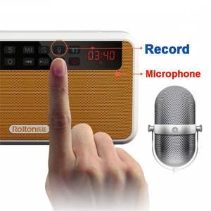 Image 4 - Rolton E500 стерео Bluetooth Динамик Портативный Беспроводной сабвуфер музыкальная резонаторная коробка громкой связи громкий Динамик s FM радио и фонарик
