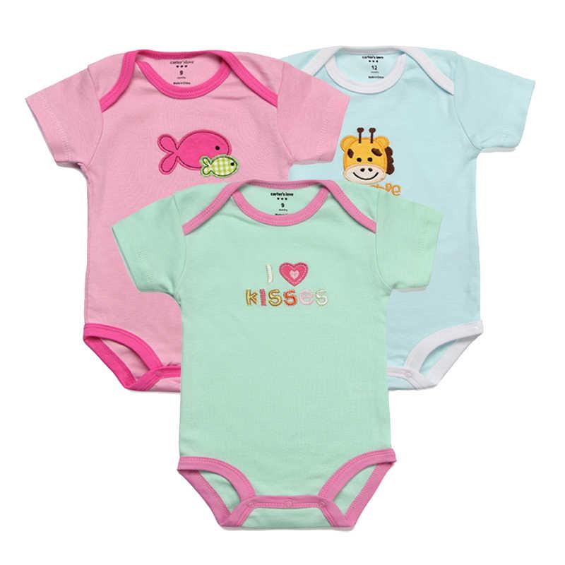 7b1eb0e8a699 ... 3pcs lot Baby Rompers Kids Jumpsuit Baby Boy Romper Newborn Summer Girl  Infant Clothing Set ...