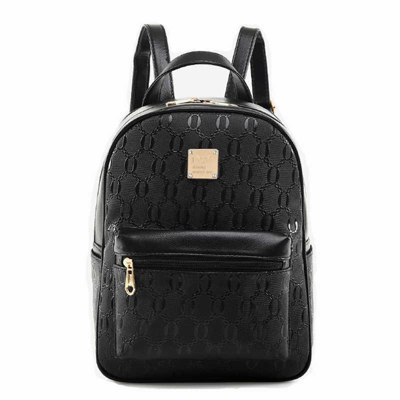 03c35834493 ... XINGMING Fashion Composite Bag Pu Leather Backpack Women Cute Bear Set  Shoulder Bags School Backpacks For ...