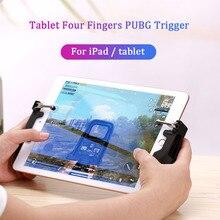 Pubg tablet gamepad controlador gatilho joystick para ipad universal l1r1 atirador botão aperto com bloqueio ajustável antiderrapante joypad