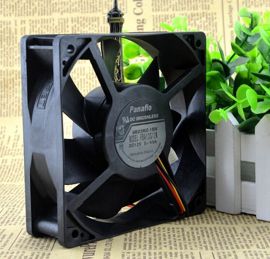 The original FBA12G12M 120*120*38 12cm 12V 0.45A converter chassis fan three line super mute