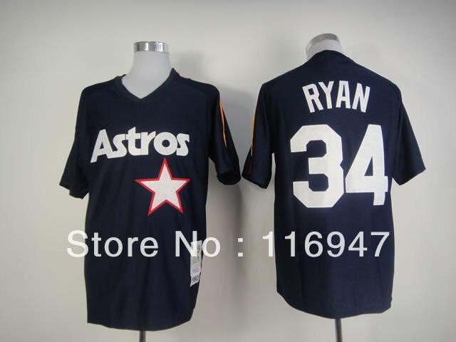 Free Shipping Houston Astros 34 Nolan Ryan Throwback Retro