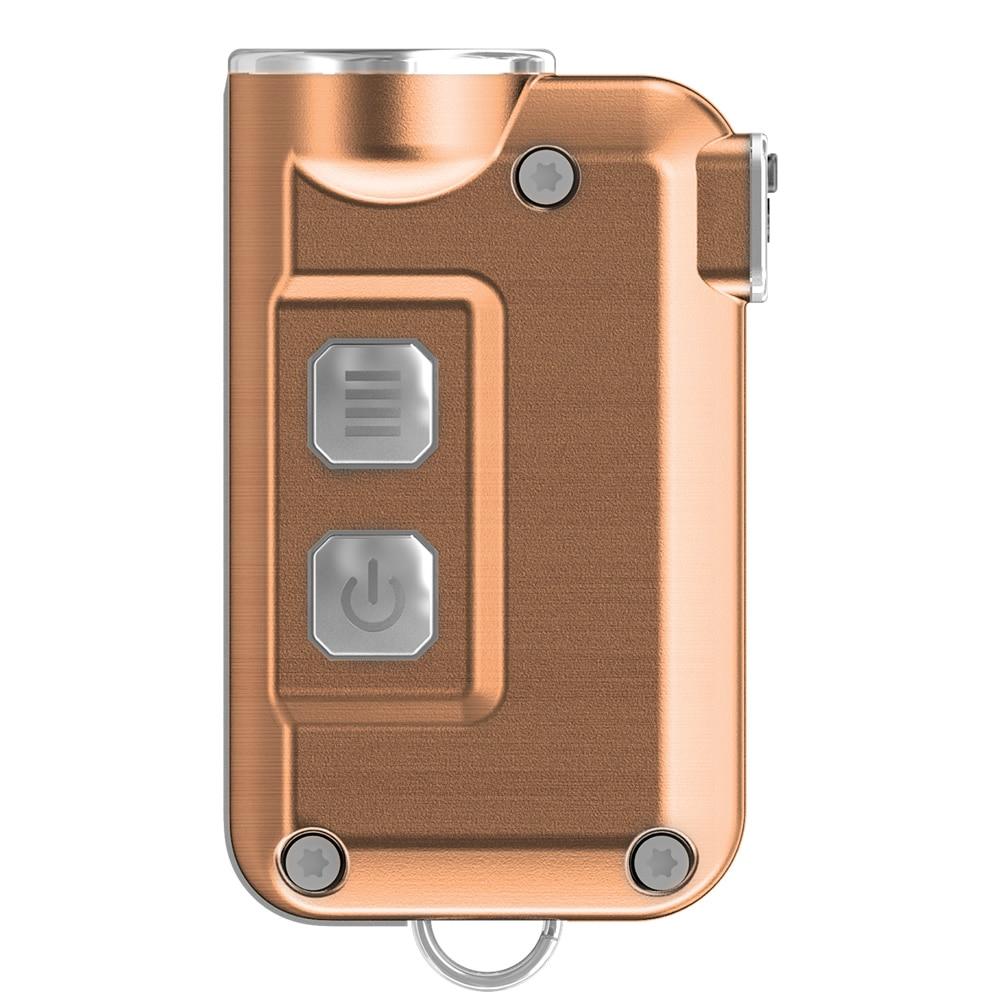 2018 NEW NITECORE TINI CU USB Cabel CREE XP-G2 S3 LED Built-In Pulsante di Chiave Batteria Ricaricabile Torcia Elettrica Portachiavi Luce Esterna