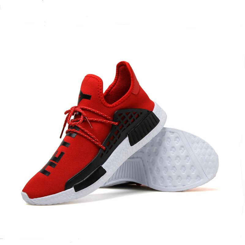 human race Casual Shoes red racing shoes yellow gray Red Socks shoes