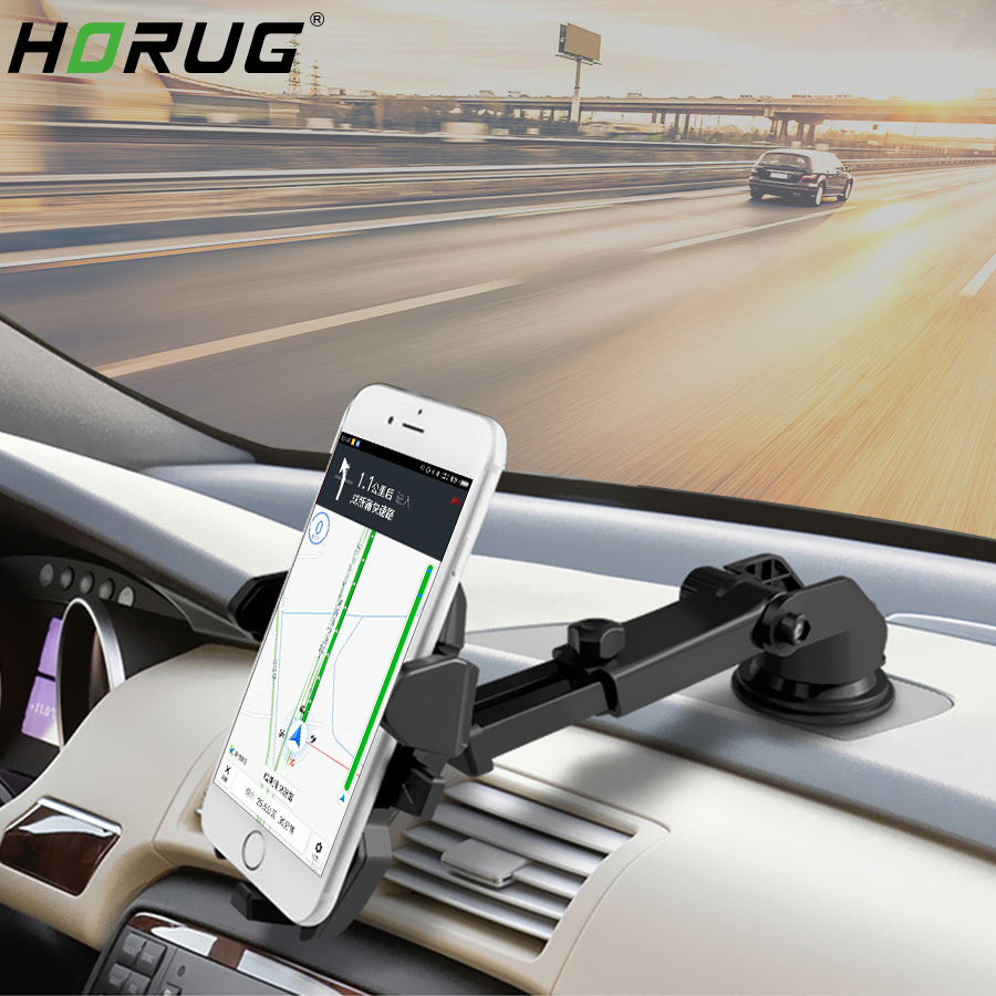 HORUG Mobile Car Phone Holder For Phone In Car Holder Mount Stand GPS Smartphone Cellphone Mount Mobile Car Phone Holders