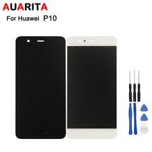 AAA Качество 5 шт./лот ЖК-дисплей для Huawei P10 ЖК-дисплей и сенсорный экран новый экран планшета Ассамблеи идеальный ремонт части 5.1 дюймов