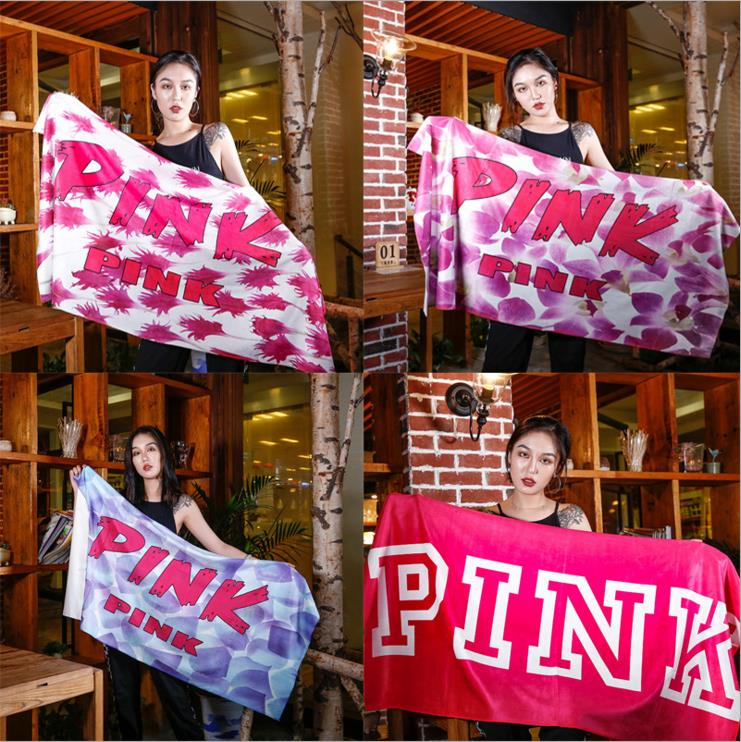 2018 New Arrival Victoria Pink Beach Towel Sport Towel Fleece Blanket Sport Towel Small VS Secret Pink Towel Swimwear Shower