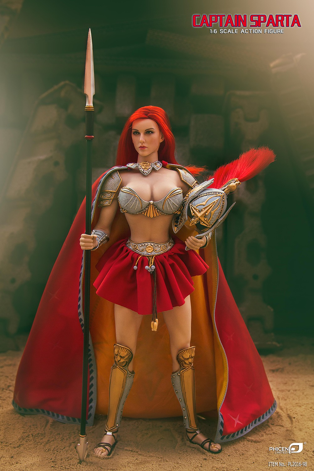 1/6th scale figure female Collectible Model plastic toy Captain Sparta Seamless body with Metal skeleton 12 Action figure doll