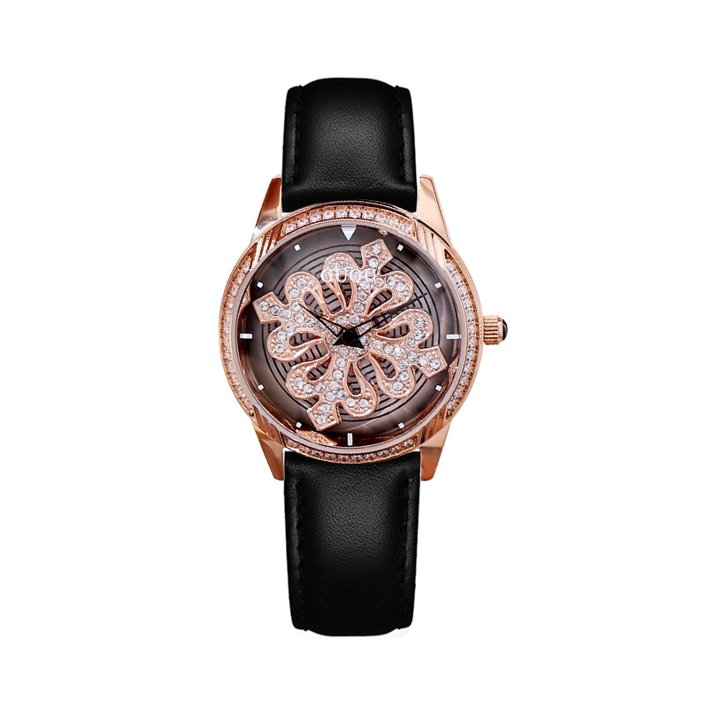 2018 Super Fashion Rotation Women Watches Ladies New Casual Dress Watch Women Luxury leather Strap Quartz Watch Clocks Relogios casual women fashion watch lady dress wristwatches quartz clocks women leather strap watches relogio clasiic sport gift g031