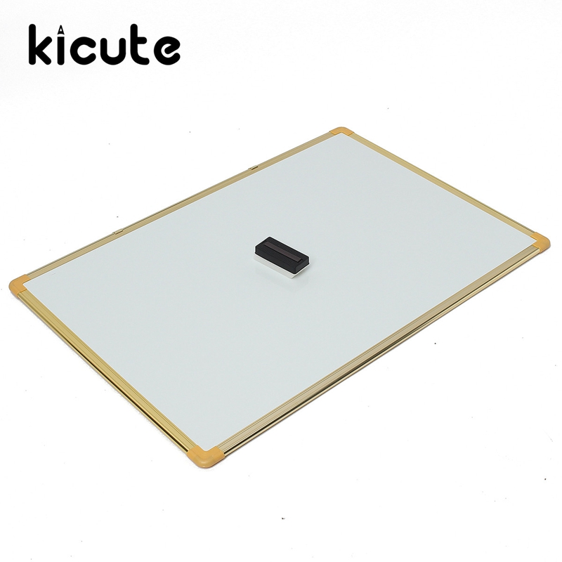 Kicute Unique Large 60cm*90cm Double Side Writing Whiteboard Dry Erase Board And Magnetic Dry Wipe Office School Supplies 90 106cm onshine adjustable child double side wooden magnetic blackboard whiteboard kids writing drawing toy eraser chalk marker