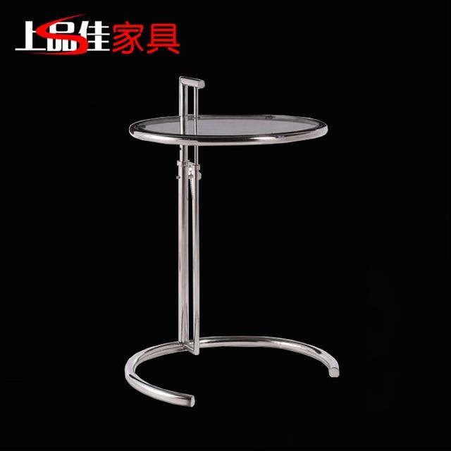 Auténtico acero inoxidable mesa de café pequeña mesa redonda tabla ...