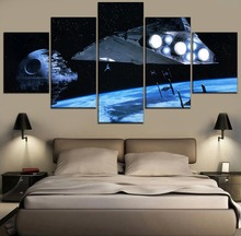 Modern HD Print 5 Piece Canvas Wall Art For Living Room Painting Science Fiction Movie Star Wars