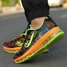 2017 nuevos hombres zapatos corrientes de aire para los hombres de la marca de malla transpirable zapatillas para caminar athletic zapatos de entrenamiento deportivo al aire libre