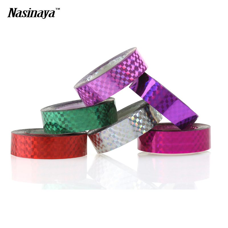 5pcs/pack Rhythmic Gymnastics Decoration Holographic Tapes RG Prismatic Glitter Tapes Gimnasia Ritmica Artistic Hoops Stick prismatic kids для дома