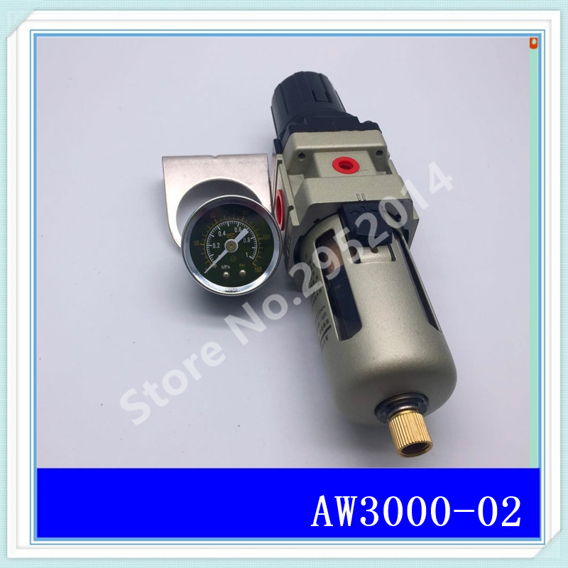 AW3000-02 G1/4 Pneumatic air compressor filter pressure reducing valve regulating valve qe 02 1 4 quick exhaust valve pneumatic valve