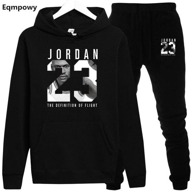 2019 primavera otoño hombres chándales Outwear sudaderas con capucha JORDAN  23 Sportwear conjuntos sudaderas masculinas hombres 791e8b43eab