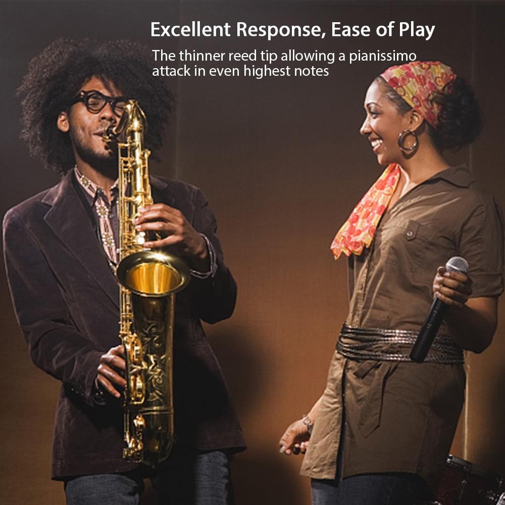 HEALLILY 10pcs Bamboo Alto Saxophone Reeds Set for Saxophone Sax Accessory Part 2.5 2-1//2