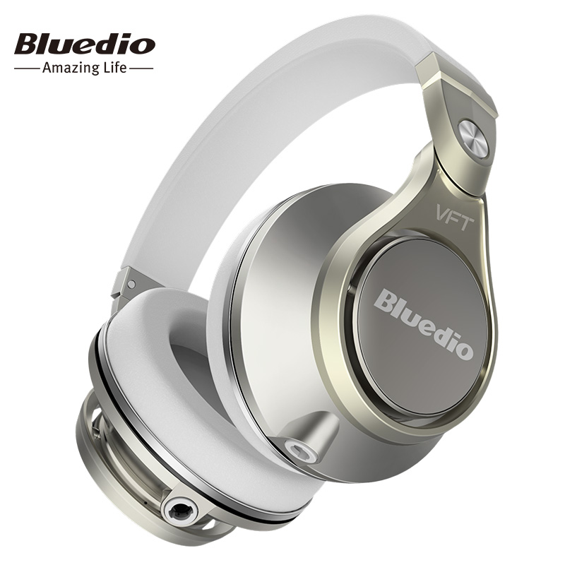 Prix pour Bluedio UFO PLUS Haut de Gamme Sans Fil Bluetooth casque PPS12 pilotes Bandeau avec microphone