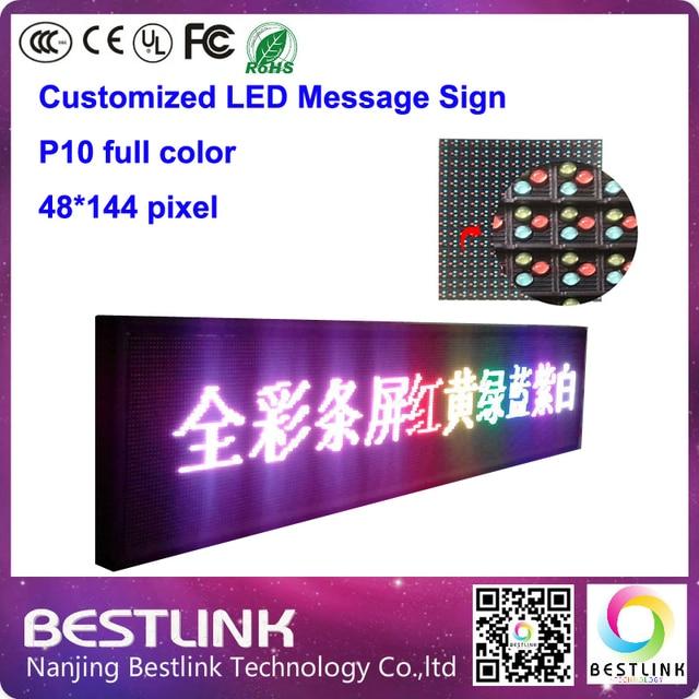 48 * 144 пикселей p10 открытый из светодиодов сообщение вывеска из светодиодов движущихся знак с p10 открытый из светодиодов для такси топ из светодиодов щитовые
