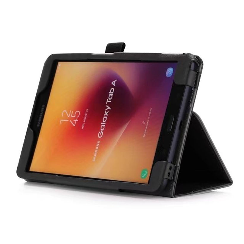 Luxury Case For Samsung Galaxy Tab A 8.0 T380 SM-T385 2017 Cover Funda Tablet PU Leather Hand Holder Flip Stand Shell+Film+Pen