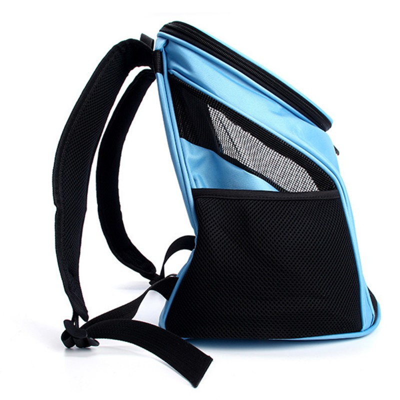 Portable Breathable Grid Bag Pet Bag Out Carrying Bag Breathable Mesh Carrier Backpack For Small And Medium Dogs #6
