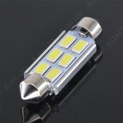 10 قطع الساخن المنتجات اكليل C5W 31 ملليمتر 36 ملليمتر 39 ملليمتر 41 ملليمتر 6 SMD 5630 LED في CANBUS لا خطأ سيارة الداخلية القراءة قبة ضوء DC12V