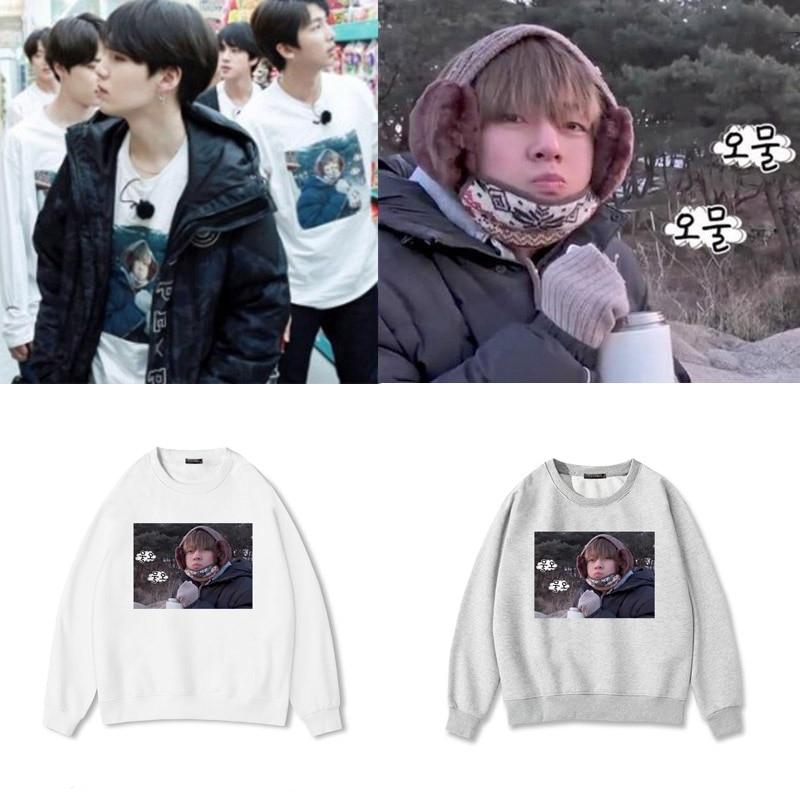 2018 Mode Kpop Idol Bts Bangtan Boys Grubby V Taehyung Sweatshirt Meme Winter Lustige Parodie Frauen Koreanischen Stil Casual Hoodies Ausreichende Versorgung