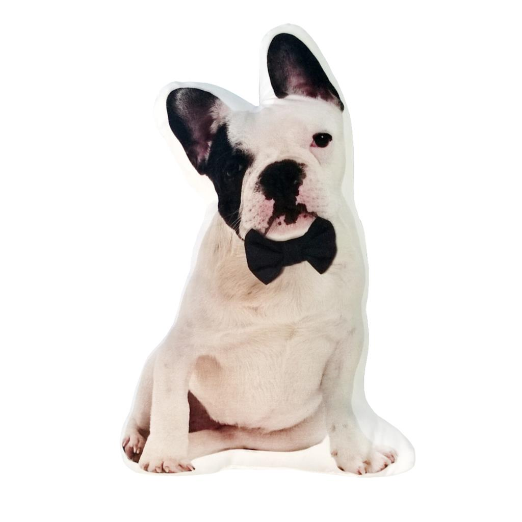 40*26 cm Bull Dog con estampado de Bowknot 3D Animal personalizado almohada de Tiro Único para decoración de sofá del hogar regalo cojines heteromórficos