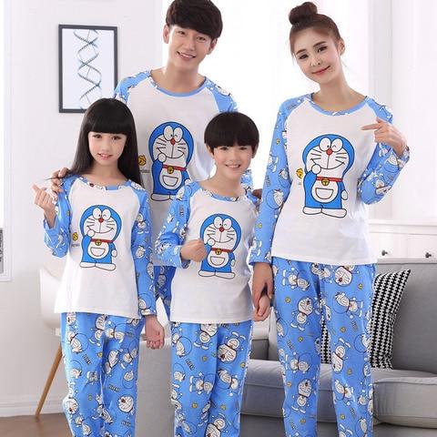 familia combinando pijamas outono longo sleeved mae filha pijamas pai filho correspondencia pijamas papai mamae