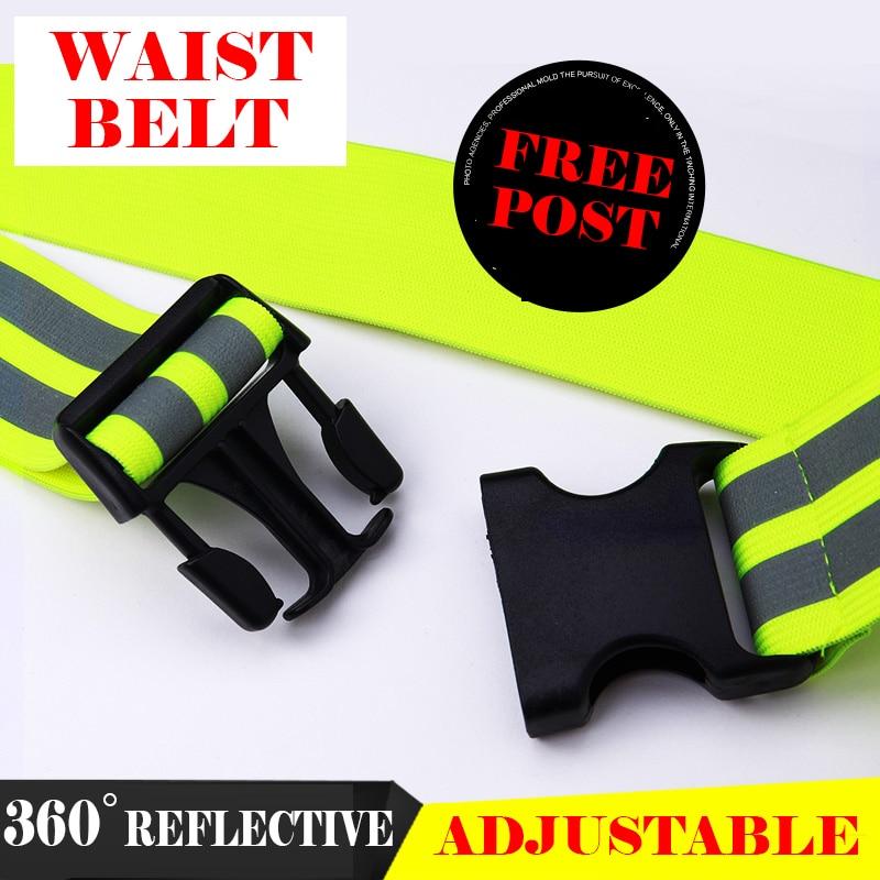 Hi Vis Viz Elastic Belt Reflection Waist Belt Adjustable Size Belt Reflective Traffic Cycling Jogging Waistband Free Shipping