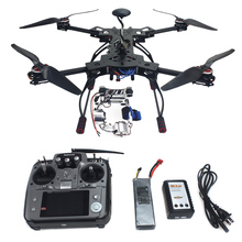 RC RTF GPS Drone HMF600 H En Forma de Fibra De Carbono Plegable Quadcopter Hexacopter APM2.8 con ESC Motor AT10 TX y RX Cardán F11101-D