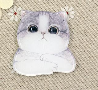 Pet Design Cat Profile Picture Fridge Magnets Cute Cartoon Image