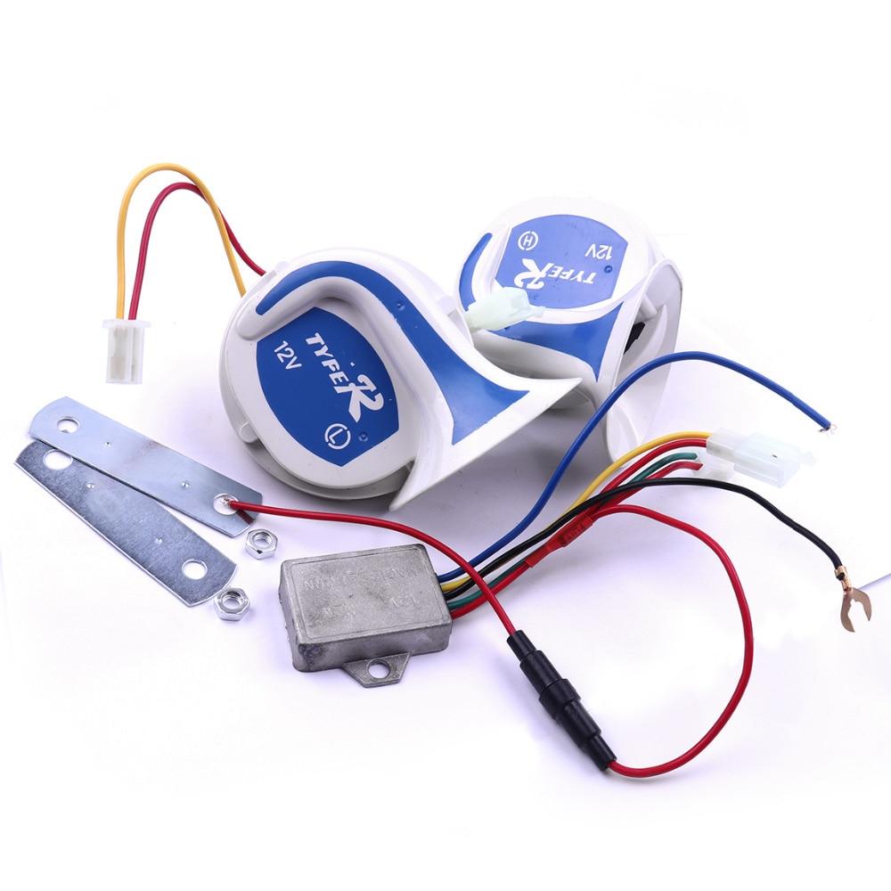 1 Pair Loud Horn Auto Speaker Alarm 12V 115db Air Snail Horn Tone Vehicle Boat Car Motor Motorcycle Van Truck Siren