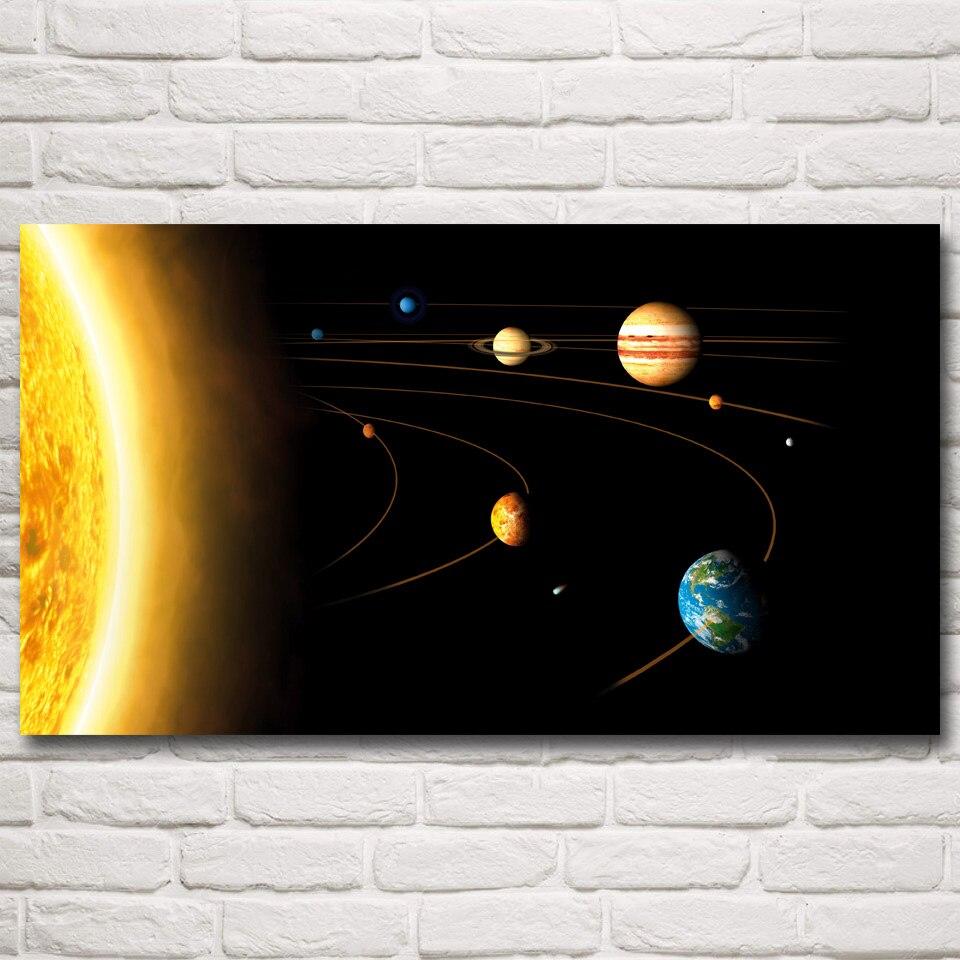 Espaço Do Sistema Solar Sol Mercúrio Vênus Terra Marte Art Silk Poster Prints Home Decor Fotos 11x20 30x54 Polegadas Frete Grátis
